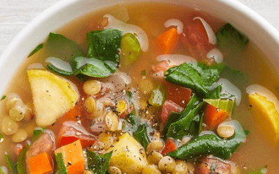 Chunky Lentil & Vegetable Soup