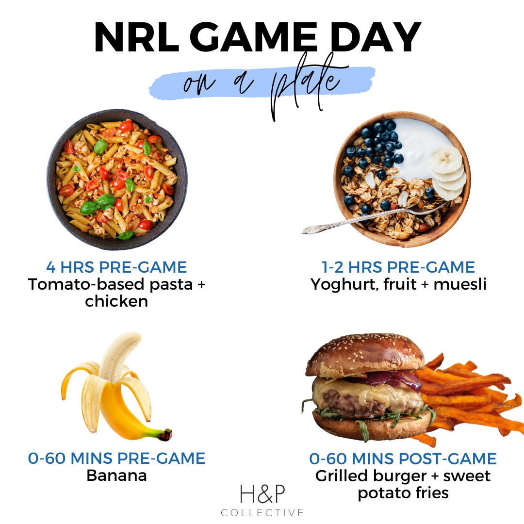 nrl game day nutrition